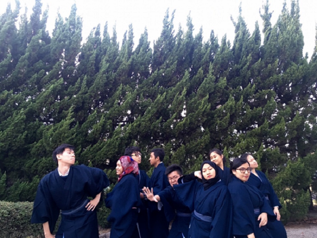IHS students in yukata - art photo