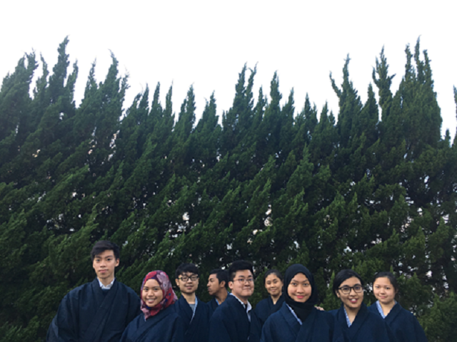 IHS students in yukata - standard photo