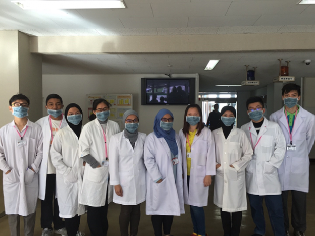 IHS students making hospital and laboratory visits in Kagawa.
