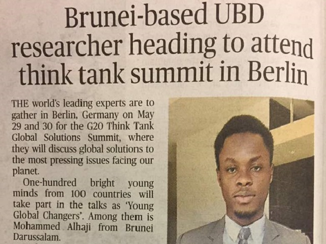 Brunei-Based UBD Researcher in Berlin Feature