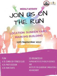 IHS Zumba and Run Flyer