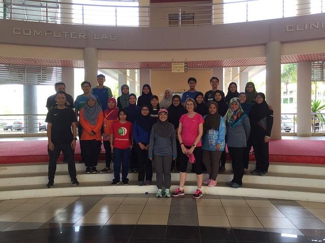 Participants at UBD IHS Zumba and Run September 2017