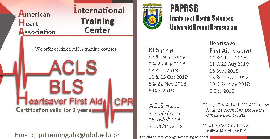 Basic Life Support First Aid Training Ubd Institute Of Health